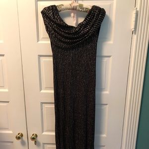 Black and Silver Formal Gown. Like New.